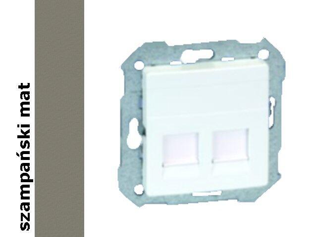 Ramka Simon 82 gniazda RJ45 z adapterem 82006-34 szampański mat Kontakt Simon