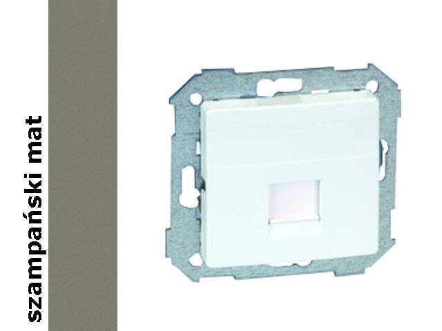 Ramka Simon 82 gniazda RJ45 z adapterem 82005-34 szampański mat Kontakt Simon