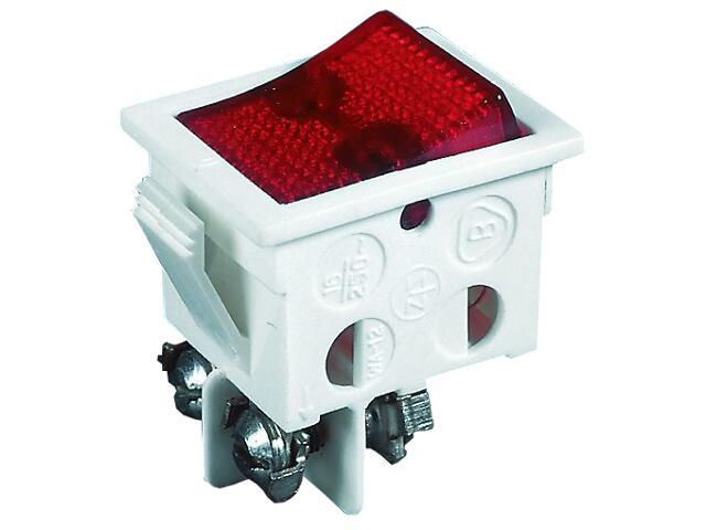 Wyłącznik na kabel do wbudowania kołyskowy z podśw. WA-12PS biały/czerwony Schneider Electric