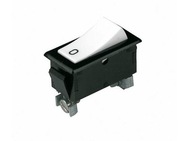 Wyłącznik na kabel do wbudowania kołyskowy jednobieg. LPD-1241W czarny/biały Schneider Electric