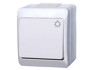Łącznik natynkowy HERMES światło ŁNT-1S biały Elektro-plast N.