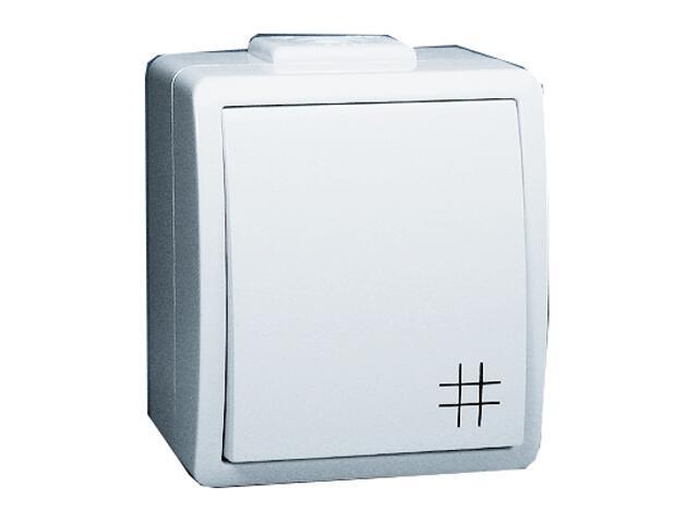 Łącznik natynkowy Protector krzyżowy IP44 PW7/11 biały Kontakt Simon