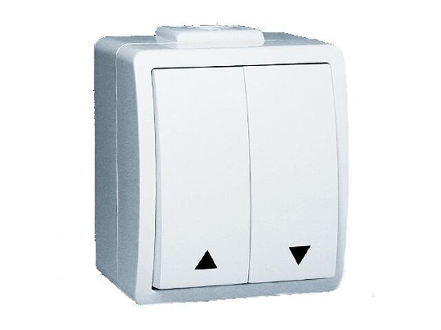 Łącznik natynkowy Protector żaluzjowy IP44 PZ1/11 biały Kontakt Simon