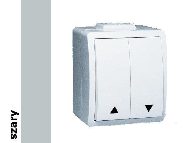Łącznik natynkowy Protector żaluzjowy IP44 PZ1/16 szary Kontakt Simon