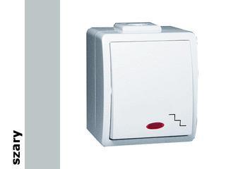 Łącznik natynkowy Protector schodowy IP44 z podśw. PW6L/16 szary Kontakt Simon