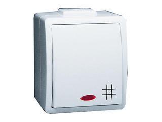 Łącznik natynkowy Protector krzyżowy IP44 z podśw. PW7L/11 biały Kontakt Simon