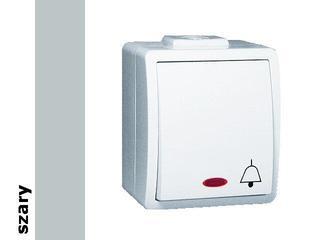 Łącznik natynkowy Protector dzwonek IP44 z podśw. PD1L/16 szary Kontakt Simon