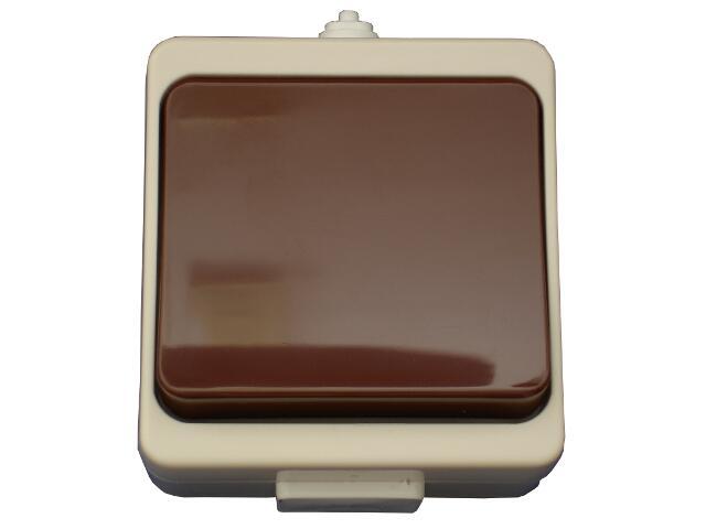 Łącznik natynkowy JANTAR jednobiegunowy IP44 WNT-1JB beżowo-brązowy Abex