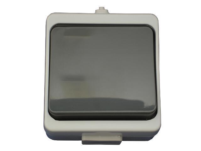 Łącznik natynkowy JANTAR jednobiegunowy IP44 WNT-1JB szary Abex
