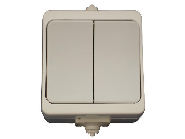 Łącznik natynkowy JANTAR świecznikowy IP44 WNT-2JB biały Abex