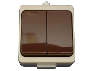Łącznik natynkowy JANTAR świecznikowy IP44 WNT-2JB beżowo-brązowy Abex
