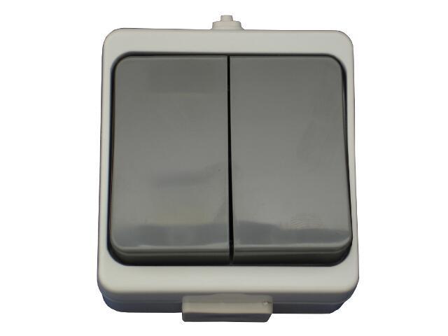 Łącznik natynkowy JANTAR świecznikowy IP44 WNT-2JB szary Abex