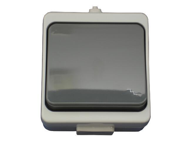 Łącznik natynkowy JANTAR schodowy IP44 WNT-5JB szary Abex