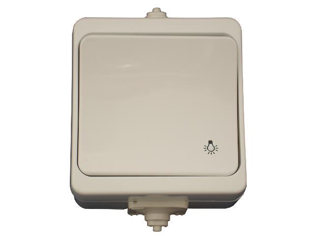 Łącznik natynkowy JANTAR światło IP44 WNT-6JB biały Abex