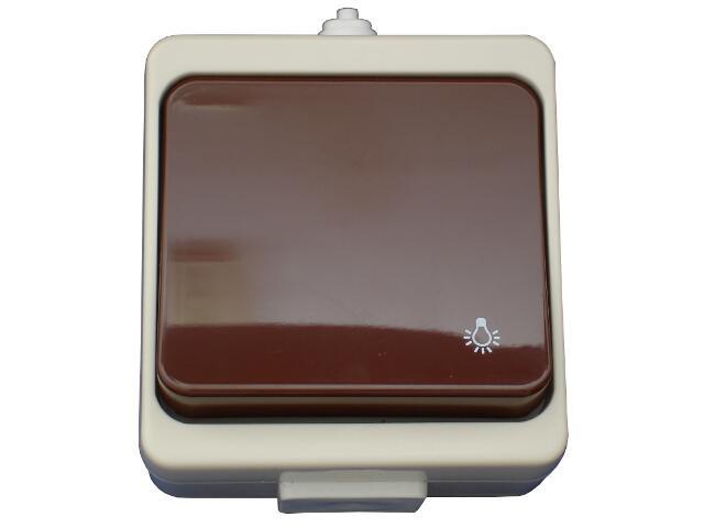 Łącznik natynkowy JANTAR światło IP44 WNT-6JB beżowo-brązowy Abex