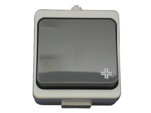Łącznik natynkowy JANTAR krzyżowy IP44 WNT-8JB szary Abex