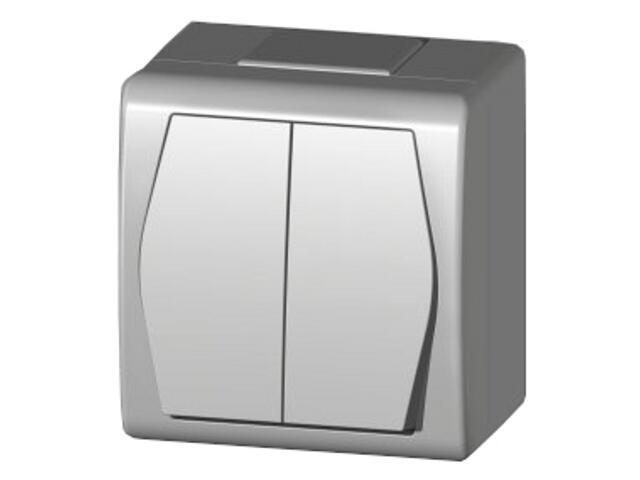 Łącznik natynkowy HERMES 2 świecznikowy ŁNT biały Elektro-plast N.