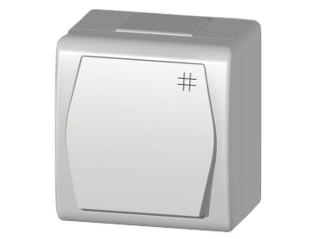 Łącznik natynkowy HERMES 2 krzyżowy ŁNT biały Elektro-plast N.