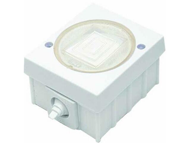 Łącznik natynkowy LAMBDA z melaminy zwierny światło biały Ospel