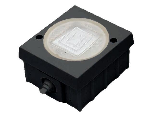Łącznik natynkowy LAMBDA CLASSIC z bakelitu dwugrupowy świecz. czarny Ospel