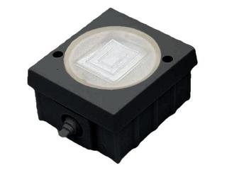 Łącznik natynkowy LAMBDA CLASSIC z bakelitu dwuobwodowy schodowy czarny Ospel