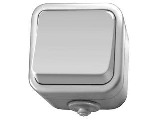 Łącznik natynkowy DELFINA jednobiegunowy biały Ospel