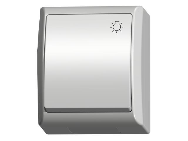 Łącznik natynkowy FALA zwierny światło biały Ospel