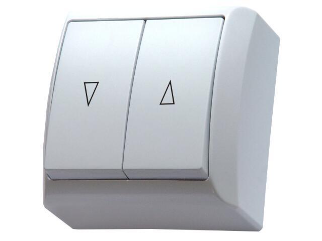 Łącznik natynkowy BIS żaluzjowy biały Ospel