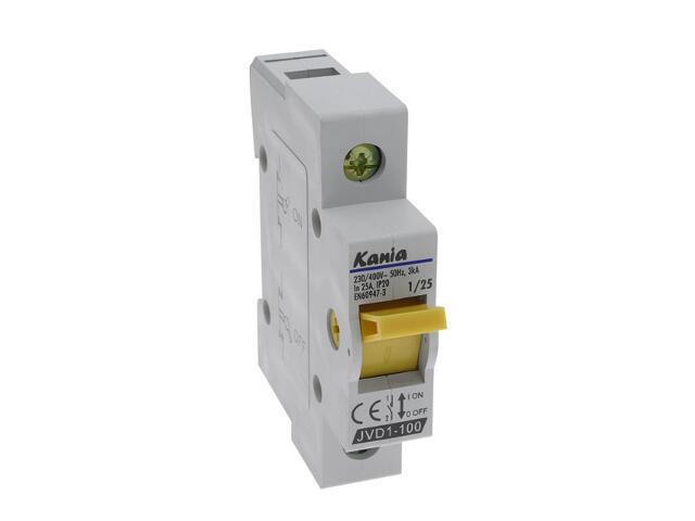 Rozłącznik bezpiecznikowy JVD1-100 1/25A Kanlux