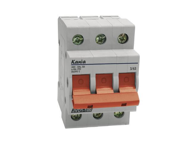 Rozłącznik bezpiecznikowy JVD1-100 3/63A Kanlux