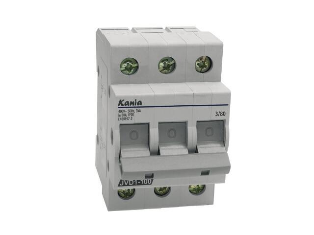 Rozłącznik bezpiecznikowy JVD1-100 3/80A Kanlux