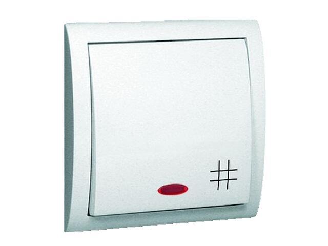 Łącznik natynkowy Classic krzyżowy z podśw. MW7L/11 biały Kontakt Simon