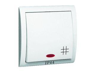 Łącznik natynkowy Classic krzyżowy bryzgoszczelny z podśw. MW7BL/11 biały Kontakt Simon