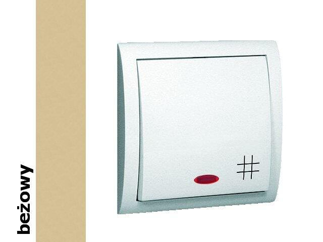 Łącznik natynkowy Classic krzyżowy z podśw. MW7L/12 beżowy Kontakt Simon