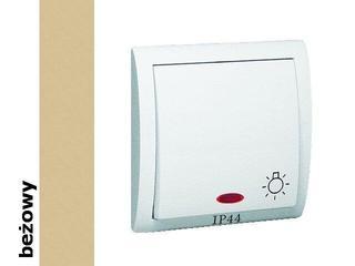 Łącznik natynkowy Classic światło bryzgoszczelny z podśw. MS1BL/12 beżowy Kontakt Simon