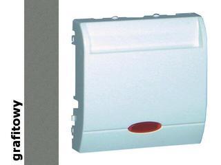 Łącznik modułowy Classic hotelowy pojedynczy 10A MWH1.02/25 grafit Kontakt Simon