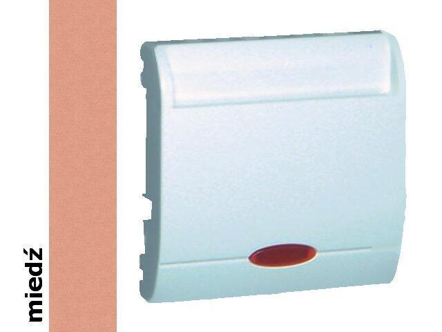 Łącznik modułowy Classic hotelowy pojedynczy 2 x 10A MWH2.02/24 miedź Kontakt Simon