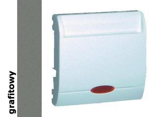 Łącznik modułowy Classic hotelowy pojedynczy 2 x 10A MWH2.02/25 grafit Kontakt Simon