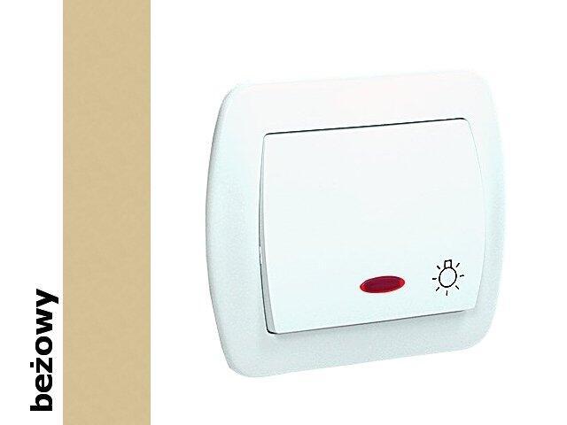 Łącznik natynkowy Akord światło bryzgoszczelny z podśw. AS1BL/12 beżowy Kontakt Simon