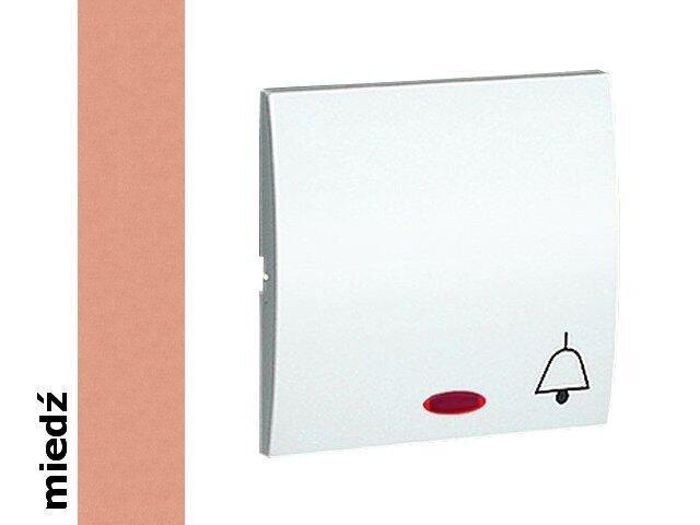 Klawisz Classic do przycisku dzwonek z podśw. MKD1L/24 miedź Kontakt Simon