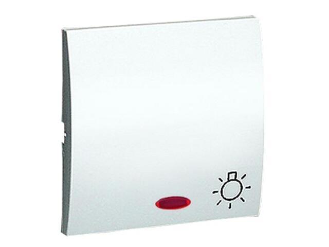 Klawisz Classic do przycisku światło z podśw. MKS1L/11 biały Kontakt Simon