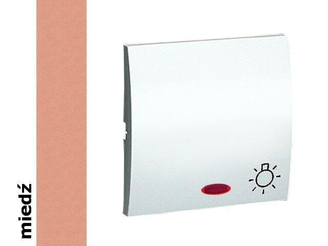 Klawisz Classic do przycisku światło z podśw. MKS1L/24 miedź Kontakt Simon