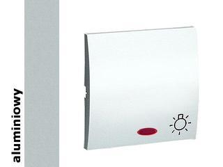 Klawisz Classic przycisku światło MKS1L/26 alum. srebrny Kontakt Simon
