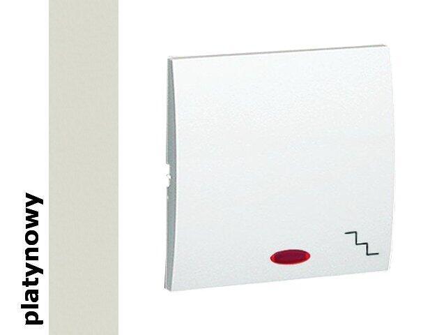 Klawisz Classic do wył. schodowego z podśw. MKW6L/27 platynowy Kontakt Simon