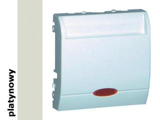 Łącznik modułowy Classic hotelowy pojedynczy 10A MWH1.02/27 platynowy Kontakt Simon