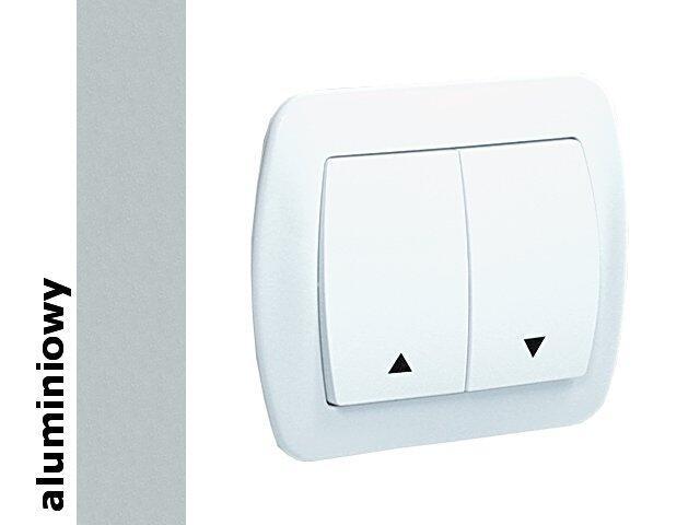 Łącznik natynkowy Akord żaluzjowy bryzgoszczelny AZ1B/26 aluminium srebrny Kontakt Simon