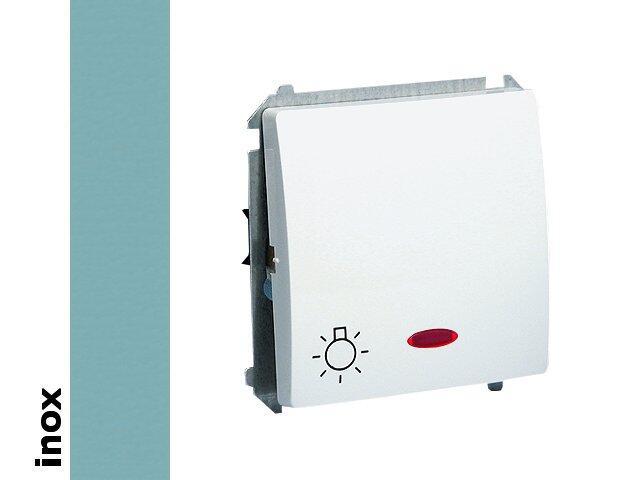 Łącznik modułowy Basic światło z podśw. BMS1L.01/21 inox Kontakt Simon