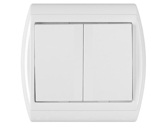 Łącznik NOVA świecznikowy WP-2N biały Abex