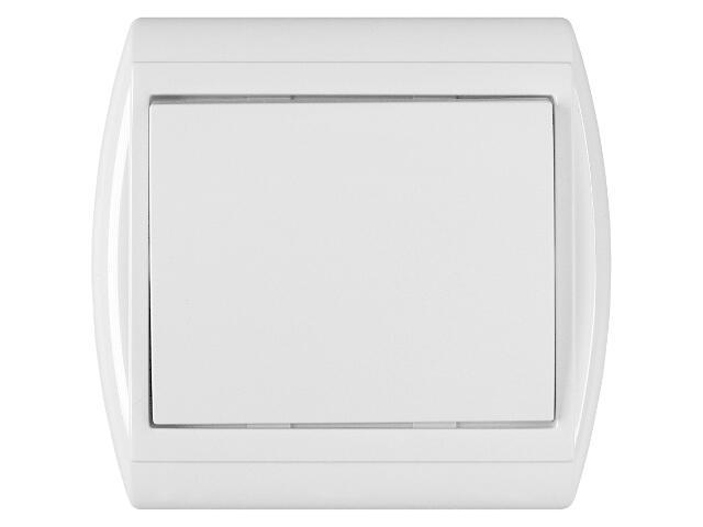 Łącznik natynkowy NOVA światło/dzwonek z podśw. WP-6/7NS biały Abex