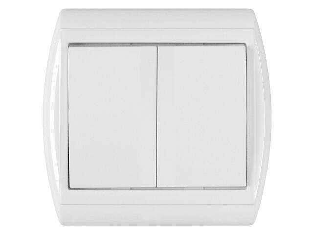 Łącznik natynkowy NOVA żaluzjowy zwierny WP-10N biały Abex